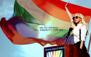Gay pride Gaga wallpaper by QuerStrawberryfields