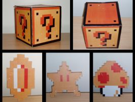 Mario Block and Power-ups by Darksider0