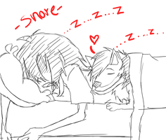 Jeff The Killer and Smile's Sleep Time-Sketch. by MikaelBratLoni