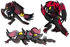 Playing With Zoroark Designs by pickles-4-nickles
