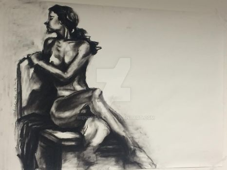 nude practice (charcoal) by wendysnape