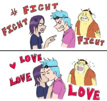 FxI: Fight and Love by straw-hat