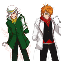 Roman Torchwick and Prof. Ozpin: Color Swap by Sogequeen2550