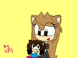 Alessia The Hedgehog : La Baby Sitter by SuperFanShadamy
