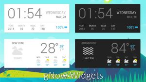 gNow Widgets for xwidget (edited) by jimking