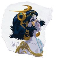 paper MoonGoddess by AfuaRichardson