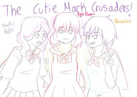 The cutie mark crusaders by 0Kurichan0