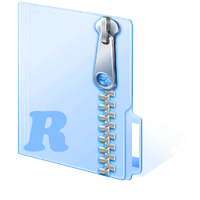 icon for zip,rar file by hjsergey