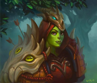 Orc Hunter by lowly-owly