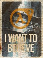 I WANT TO BELIEVE by NeverenderDesign