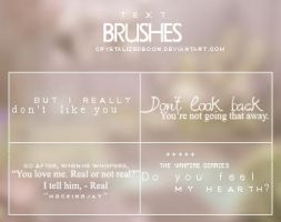 Text Brushes by CrystalizedBoon