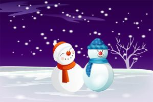 Free Vector Snowman by VectorDownload