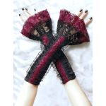 long fingerless gloves with ruffled for burlesque by Eusebie