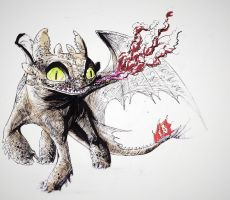 Toothless Sketch ^__^ by MonoFlax