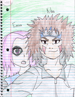 Emira and Kiba (Group Story Thing) by RedFangedDemon