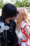 AsunaxKirito Kiss by moonlightspirit