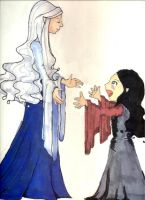 Arwen and Celebrian by babymint34