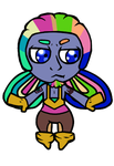 Commission - Bismuth Chibi by GHRainbowFluorite