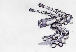 stalker mk1 human medium mech by failurecrusade