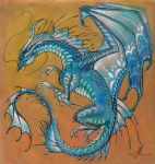 Blue Agate Dragon by AlviaAlcedo