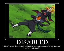 motivational poster: disabled by WilliamLionheart