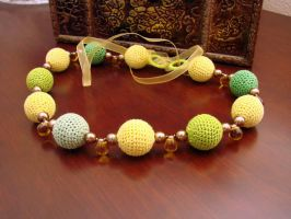 Spring colour crochet necklace by M2Grzegorczyk