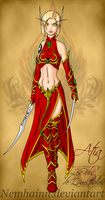Blood elf : Atia portrait v2 by Nemhainn