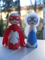Cones: Hawk and Dove by Poison-Harley