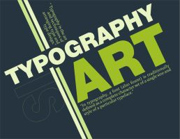 Typography is Art by funkoydssey
