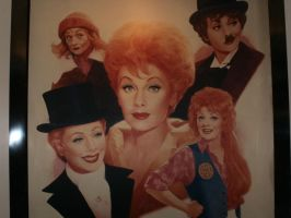 Lucille Ball Painting by L1701E