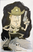 RICK GRIMES sketch by thecheckeredman
