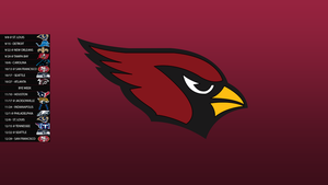 Arizona Cardinals 2013 Schedule Wallpaper by SevenwithaT