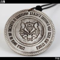 Wolf Dazbog pendant back by Kriegerman