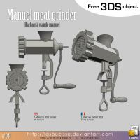Free 3DS : 41-meat-grinder by lasaucisse