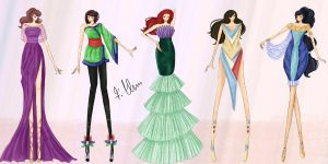 Disney Fashion II by wondagirl