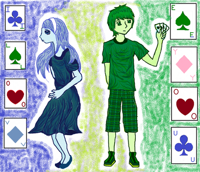 The King and Queen of Cards by GwenChan1