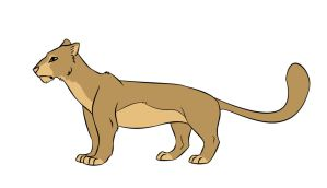colored lioness by bergrun