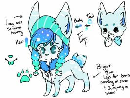 Winter mascot - Fuyu by xTROPIC-CARRlBEAN