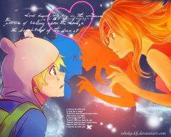 Finn x Flame Princess wallpaper by Rebeka-KH