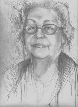 quick sketch of my grandmother by oswalddent