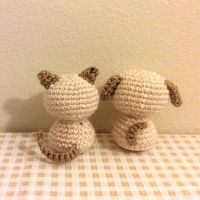 Chisai Kitten and Chisai Puppy (Amigurumi Crochet) by Sylemn