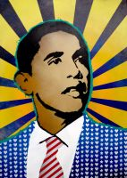 obama_pop_icon_premium_print by jois85
