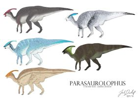 Parasaurolophus Colour tests by JoshuaDunlop