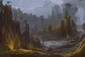 Photoshop Landscape Paint (WIP) by nin-mario64