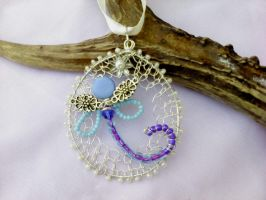 Dragonfly wire wrapping pendant by Mirtus63