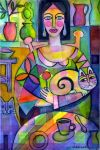 Lady with cats by karincharlotte