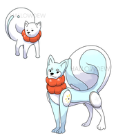 Snow Dog Pokemon by HallowDew
