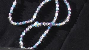 Purple and Blue Crystal Necklace by CelticStrm