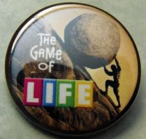 THE GAME OF LIFE - SISYPHUS pinback button badge by crizzlesbuttons