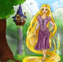 Tangled's Rapunzel by Lubie-Lu